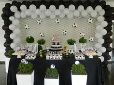 super Ideas for birthday party ideas for boys soccer Soccer Birthday Parties, Football Birthday, Soccer Party, Soccer Baby Showers, Soccer Decor, Soccer Banquet, Baby Party, Sofia Party, Birthday Decorations