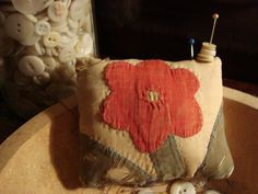 Pin Cushion from Early 1800 Quilt