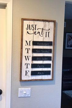 Items similar to Menu framed Sign on Etsy Livingston, Dinner Menu Boards, Home Projects, Home Crafts, Diy Crafts, Malm, Kitchen Signs, Kitchen Board, Farmhouse Kitchen Decor