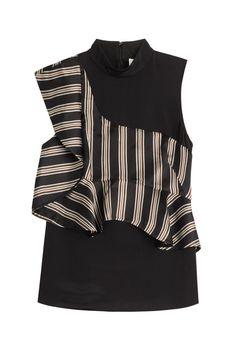 3.1 Phillip Lim Silk Sleeveless Blouse with Ruffles, $455; stylebop.com