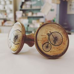 For the cyclists and the explorers amongst you I have these fab new dresser knobs in stock!