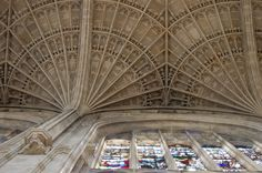 Fan Vaulted Ceiling, Kings College Chapel, Cambridge, UK