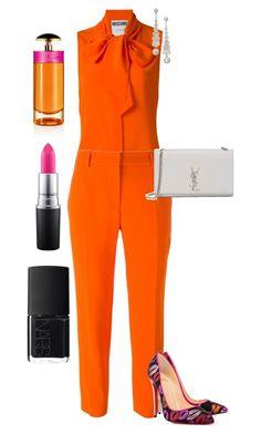 Untitled #681 by styledbyhkc on Polyvore featuring polyvore fashion style Moschino STELLA McCARTNEY Christian Louboutin Yves Saint Laurent MAC Cosmetics Prada NARS Cosmetics clothing