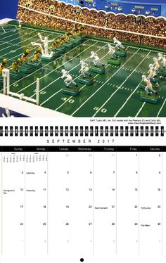 This Sunday the Green Bay Packers host the Indianapolis Colts. This NFL matchup has a long and storied history, on the field, and also on the vibrating gridiron thanks to Tudor Games 1967 NFL Colts-Packers No. 510 model. It's an historic game that we feature in our new 2017 Calendar, as well as in Full Color Electric Football.