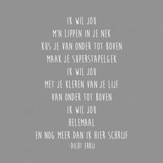 267 gedicht ik wil jou «
