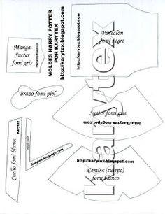 Moldes de Amanda: Fofucho Harry Potter y molde (de la web)