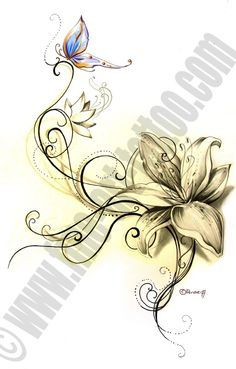 tatto flower drawings | Fine-Art-Tattoo » Flower