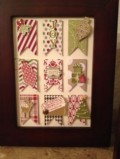 Christmas banner sampler. MY stampin up