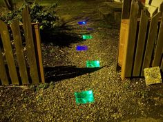 Solar power light up walkway.  I reallyy love this!!!  http://www.instructables.com/id/How-to-Make-a-Solar-Powered-Walkway/