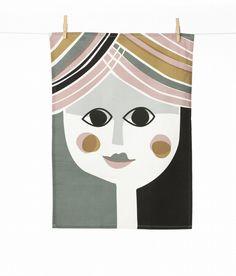 funny tea towel by Ferm Living via Kate Graeff