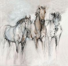 Horse Drawings, Animal Drawings, Art Drawings, Bull Painting, Horse Artwork, Watercolor Horse, Horse Silhouette, Art Prompts, Unicorn Art
