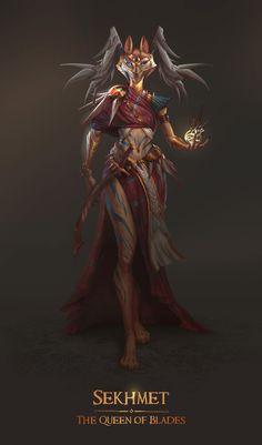 African Mythology, Egyptian Mythology, Egyptian Goddess, Egyptian Drawings, Egyptian Art, Egyptian Things, Character Art, Character Design, Angel Warrior