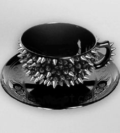 spiked tea cup