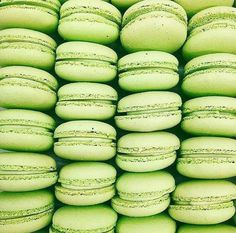 Caramel apple macarons by Green Theme, Green Colors, Colours, Verde Neon, Green Pictures, Mean Green, Green Photo, Green Wallpaper, Aesthetic Colors