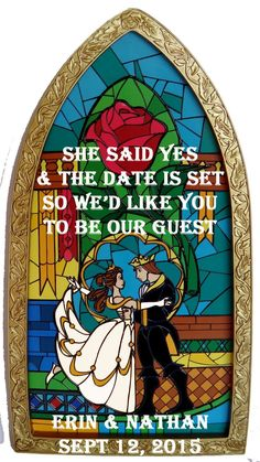 Wedding Quotes  : Beauty and the Beast Save the Dates!  Weddingbee