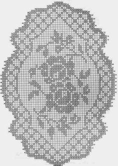 Kira scheme crochet: Two roses