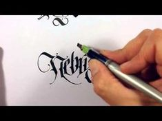 Parallel Pen Calligraphy - More Lower Case - YouTube