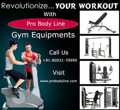 Pro Body Line, Most prominent gym equipment's supplier and exporter in India