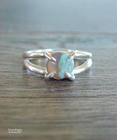 Rough Fire Opal Ring Graduation Present Raw Opal Engagement