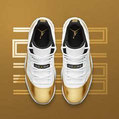 Insider access to the Air Jordan 11 Retro Low 'White & Metallic Gold'. Explore, buy and stay a step ahead of the latest sneaker drops with Nike+ SNKRS. Nike Air Jordans, Nike Air Max, Cool Jordans, Air Jordans Women, Shoes Jordans, Nike Lebron, Nike Sportswear, Cute Shoes, Me Too Shoes