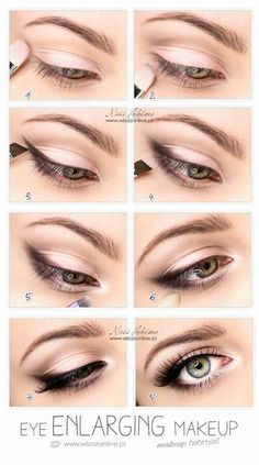 Eye enlarging eye makeup tutorial. Easy Eye Makeup Tutorial For Blue Eyes, Brown Eyes, or Hazel Eyes.  Great For That Natural Look, Hooded Or Smokey Look Too.  If You Have Small Eyes, You Can Use Some Great Makeup Products To Achieve The Kim Kardashian Look.  Try These Tutorials For Glasses That Are Step By Step Too.