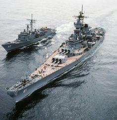 USS Iowa BB-61, USS Halyburton FFG-40.