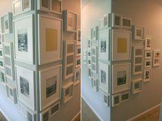Corner gallery wall cool idea