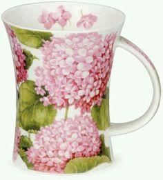Hydrangea pink mug - wonderful for summer mornings. Teapot Cookies, Pink Hydrangea, Hydrangeas, Lilac, Cool Mugs, Porcelain Mugs, China Painting, I Love Coffee, China Patterns