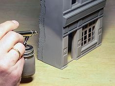 MiniArt, how to paint buildings.