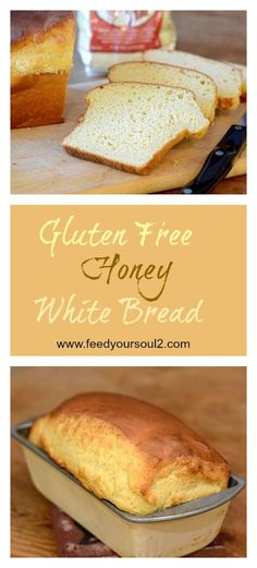 Gluten Free Honey White Bread from Feed Your Soul Too Perfectly satisfying Gluten Free Honey White Bread. This bread has no gluten and comes out with great texture. Cookies Gluten Free, Gluten Free Desserts, Dairy Free Recipes, Gluten Free Flour Bread Recipe, Gluten Free Homemade Bread, Gluton Free Bread, Gluten Free Dairy Free Bread Recipe, Wheat Free Recipes, Paleo White Bread Recipe