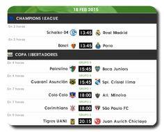 Continúa la #ChampionsLeague y #CopaLibertadores hoy: #FutbolTD #FUTBOLxESPN #FOXSports #México #TVCDeportes
