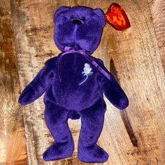 Princess Diana TY Beanie Baby 1997 Rare | Etsy Beanie Babies Value, Princess Diana Beanie Baby, Swing Tags, Ty Beanie, See Picture, White Roses, Smurfs, Dinosaur Stuffed Animal, Vintage Items
