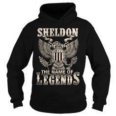 I Love Sheldon - the name of legends T shirts
