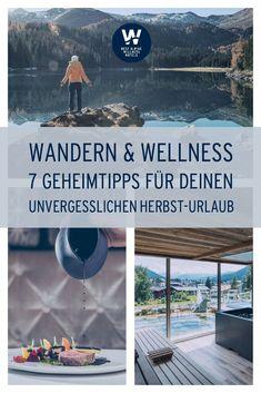 Wandern und Wellness auf Top-Niveau bieten die Best Alpine Wellness Hotels. Sie liegen alle in den schönsten Wandergebieten und Ferienregionen Österreichs und Südtirols und laden zum Wohlfühlen und Genießen ein. Hier gehts zu den besten Packages für #wanderlust und Bergzeit. Jetzt gleich buchen! Salzburg, Wanderlust