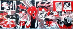The Scream in Spain. Graffiti in an Old Concrete Factory