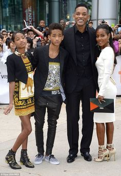 Willow, Jaden, Will and Jada Pinkett Smith pictured at the All Political Prisoners' film p...