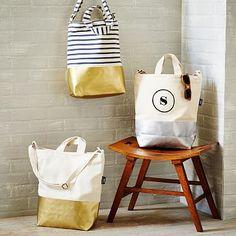 Metallic Baggu Dipped Tote Bag.