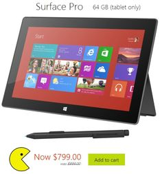 Pac-man is hungry and will eat your tablet. Even Microsoft Surface Pro. You have been warned!