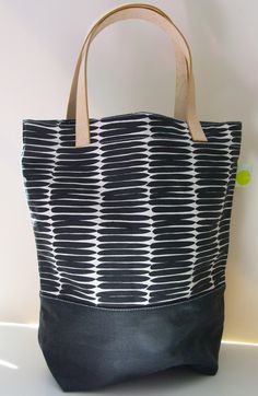 Leather Handle Square Tote $75 @seedesign