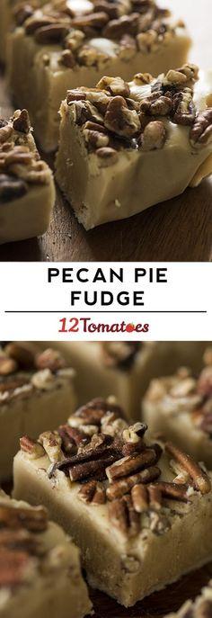 Pecan pie fudge