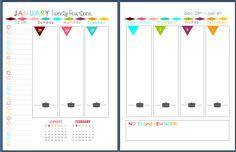 Sherbert Cafe: 2014 Planner Printable Arc Planner, Planner Pages, Life Planner, 2015 Planner, Weekly Planner, Blog Planner, Happy Planner, Meal Planning Printable, Printable Planner
