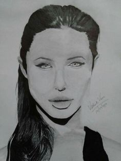 Angelina! A trial potrait. Though not upto the mark