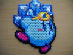 Ice Kirby perler beads by Kyuseishu on deviantart