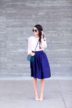 full skirt and chanel bag