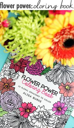 SOLD OUT! Will be back in stock on 11/9 flower power coloring book