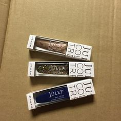 Set of three brand new julep nail polish! Set of three brand new julep nail polish! Still in box with tags!! Let me know if you have any questions Julep Makeup