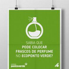 Está a ver o seu perfume favorito?   Pois, qualquer que ele seja e qualquer que seja o frasco que o acompanha, este pode e deve ser colocado no ecoponto verde.   Basta estar vazio!