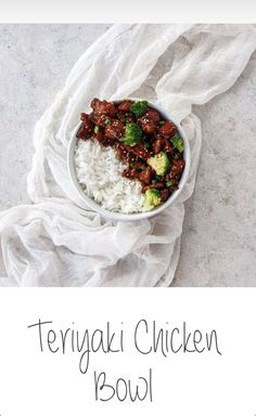 An easy recipe for Teriyaki Chicken with a homemade sauce, served with rice and steamed broccoli. Check it out: