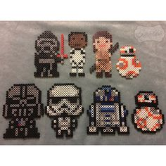 Star Wars VII perler beads by kiick_ash