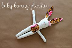 Taylor Made: Baby Bunny Plushie  this is so adorable that i want to make it right now!